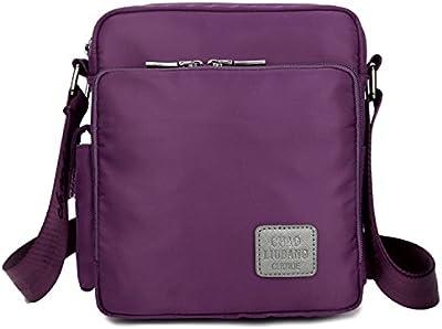 Outreo Pequeñas Bolso Bandolera Mujer Bolsos Hombre Nylon Vintage Messenger Bag Bolsos para Escolares Libro Bolsa Tablet Bolsas de Viaje