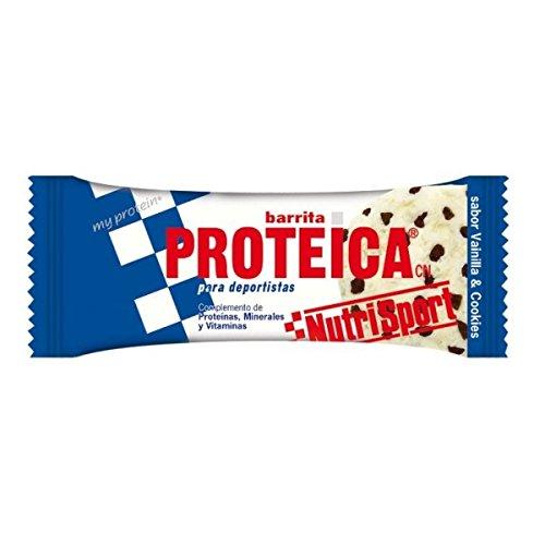 Nutrisport Barrita Proteica 24 x 46g Vainilla y Cookies