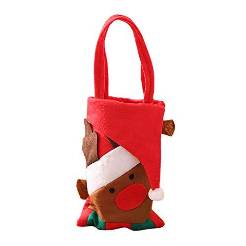 Weihnachten Süßigkeitstasche Elf Elk Hosen behandeln Tasche Home Party Decor Geschenk ()