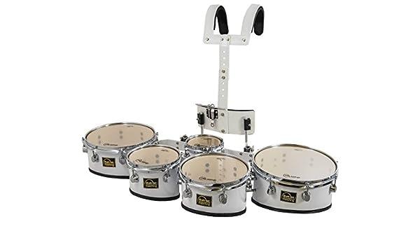 5er Marching Drum Set Timptoms mit Tragegestell und Zubehör
