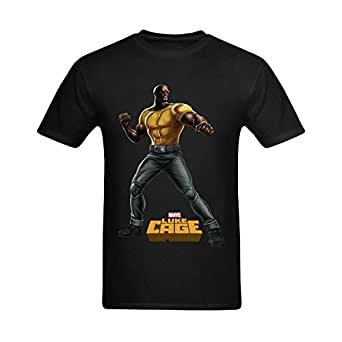 Welvga Men's Hire Luke Cage Art Poster Printed Fashionable T-shirt