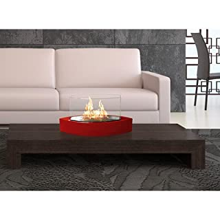 Anywhere Fireplace Lexington Tabletop Ethanol Fireplace in Red