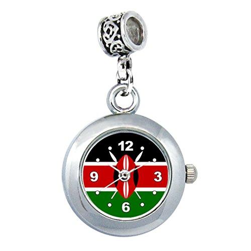Timest - Kenia Länder Flaggen Uhr für Armbänder und Ketten Rund Analog Quarz EBA0299 -