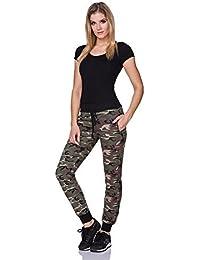 FUTURO FASHION - Pantalon de sport - Tapered - Femme gris gris/blanc