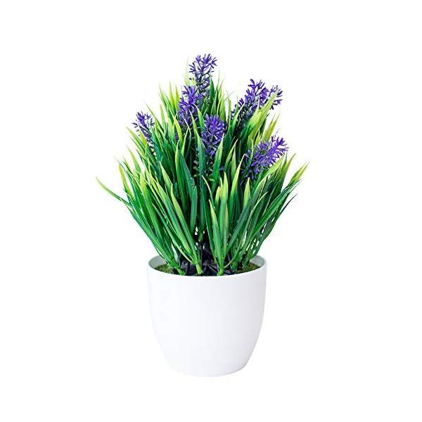 XdiseD9Xsmao Color Vivo Flor De Lavanda Artificial Bonsai Flor Falsa Planta Hogar Jardín DIY Fiesta De Boda Oficina…
