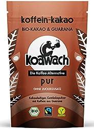 koawach Pur Trinkschokolade ohne Zucker mit Guarana Wachmacher Kakao - Bio, vegan und fair gehandelt (100g, 22