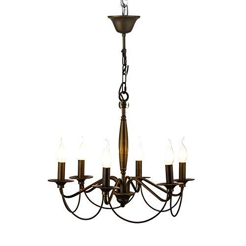 Öl Eingerieben Bronze Licht 6 (WHL.HH Westinghouse-Beleuchtung Iron Hill 6-Licht Innen Convertible Leuchter Semi Flush Deckenleuchte Öl eingerieben Bronze Finish Metallschirme (Ohne Lichtquelle),110V)