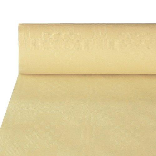 Damasttischtuch 50 m x 1 m creme Papiertischtuch