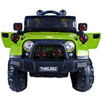 Toy House Kid's Off Roader Jeep Rechargeable Battery Operated-Ride-on (THROJ002G_V1, Green)