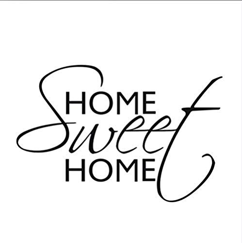 Art Words Sweet Home Decor Quotes Vinilos decorativos Autoadhesivos Decorativos Removibles DIY Vinilo Pegatinas de pared