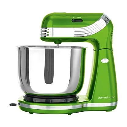 TV-unser-Original-05291-gourmetmaxx-Kchenmaschine-Classico-metalliclimegrn