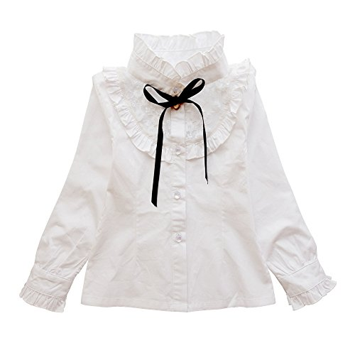 Ochenta - camicia - maniche lunghe  -  ragazza bianco bianco