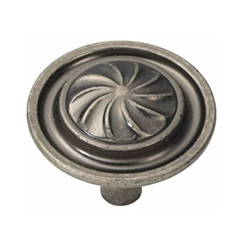 Belwith Products P3461-BNV Cabinet Knob, 1-1/4-Inch, Brushed Nickel by Hickory Hardware