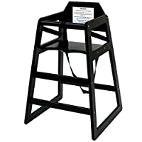 Oypla Stackable Kids Baby Wooden Feeding Commercial Home High Chair - Black