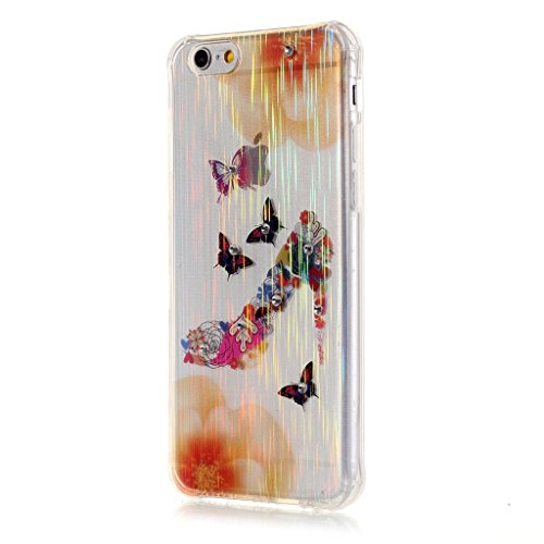 PowerQ Bubble Blase Serie Drop Proof Tropfen Anti Widerstand buntes Muster TPU Case Hülle < Colorful Tree | für IPhone 5S 5 5G SE IPhone5S IPhoneSE >          Corner Gassack Blase Stoßstange Airbag Drop Resist Butterfly heels