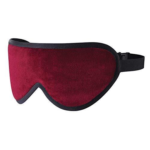 MASTERS OF MAYFAIR Edles Weinrot Luxuriöse Schlafmaske Handgefertigte Augenmaske Aus Feinen Organischen Stoffen, Bambus Seide & Lavendel - Master Luft