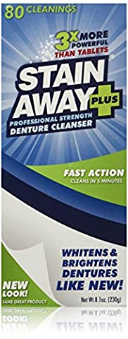 Stain Away Plus Denture Cleanser, 8.1-Ounce by Stain-Away