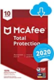 McAfee 2020 Total Protection | 10 Appareils | 1 An | PC/Mac/Android/Smartphones | Download Code...
