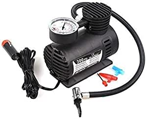 IMPREX INFRA Electric Air Compressor Inflator Pump for Car, Bike, Tubeless Tyre. 12v 300 Psi for Bicycle, Football, Basketball