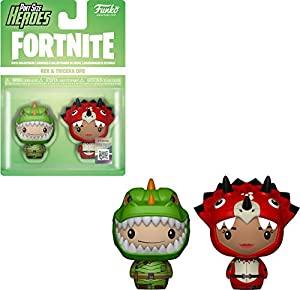 Funko- PSH 2-Pack: Fortnite: Rex & Tricera Ops Figura Coleccionable, Multicolor (38029)