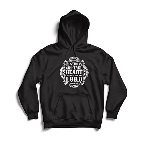 lepni.me Hoodie Wait For The Lord - Books On The Psalms - Easter - Resurrection - Nativity- Religious Christian Gifts