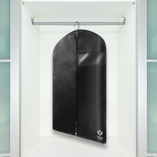 YORA Kleidersack Anzug Schutzhülle I Premium Kleiderhülle atmungsaktiv mit Schuhbeutel I Schutz & Aufbewahrung für Hemden und Kleider I Kleiderschutzhülle & Anzugsack