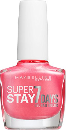 Maybelline New York Make-Up Super Stay Nailpolish Forever Strong 7 Days Finish Gel Nagellack Rose Tornado / Farblack mit ultra starkem Halt ohne UV Lampe in glänzendem Rosé, 1 x 10 ml (Make-up Forever Uv)