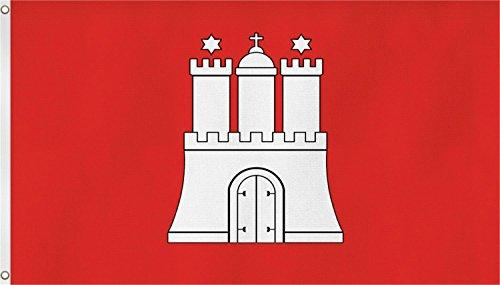 normani Fahne mit Messingösen 90 x 150, 150 x 250 oder 300 x 500 cm wählbar Farbe Hamburg Größe 90 x 150