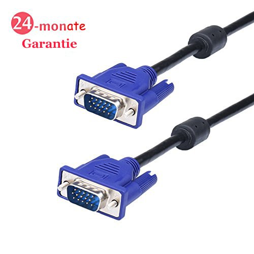Kabel Hdb15 (VGA auf VGA-Kabel 1080p SVGA HD15 Monitor Projektor Kabel, 1,8m Video Kabel für HDTV Display, Schwarz, weduda)