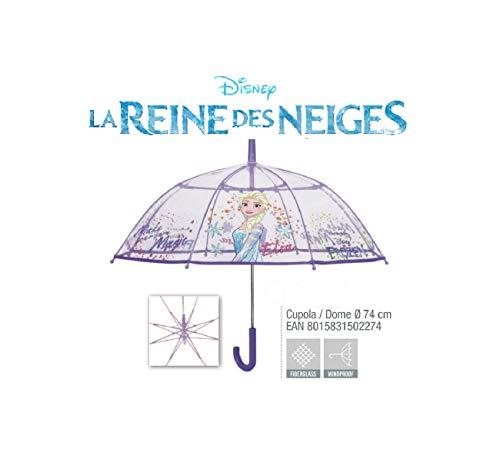 Perletti frozen ombrello trasparente automatico 70 cm, multicolore, 70 cm