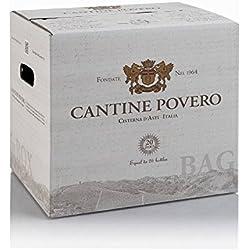 Bag in Box 20 lt. Cantine Povero - Vino rosso da uve Barbera 12,5°