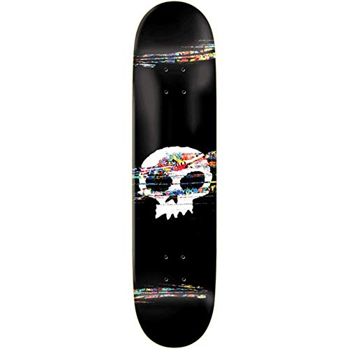 Zero Brockman Single Skull Scratch Off Dk-8.25 Skateboard, Schwarz