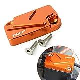 Motorrad Vorderer Bremsflüssigkeitsdeckel Bremskupplungs-Ölbehälter Fluid Cap Abdeckung CNC Clutch Cylinder Reservoir Cover Passend für DUKE 125 200 390