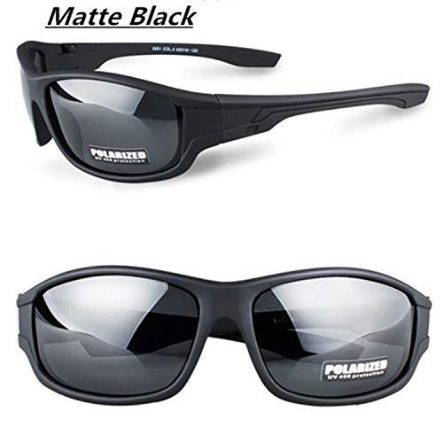 Lunettes,Lunettes de soleil,Fashion Outdoor Sports Polarized Sunglasses Goggles Men Driving Fishing Running Travel Sun Glasses Oculos De Sol Matte Black