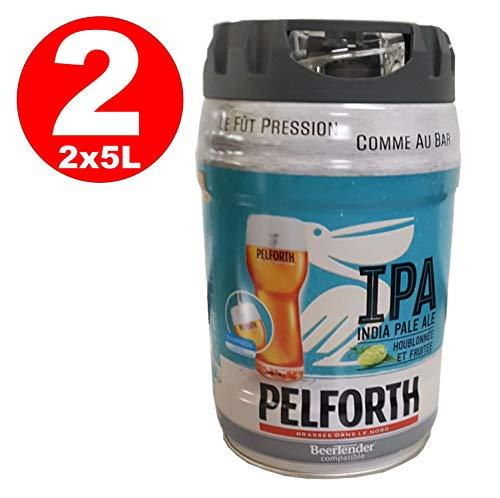 2 x Pelforth IPA India Pale Ale Hopfen und Früchte 5 Liter Partyfass 5,9{119b14c16e115077177cd5edeab4513ffe597c26bcee5f1013589f3251b55b19} vol. EINWEG