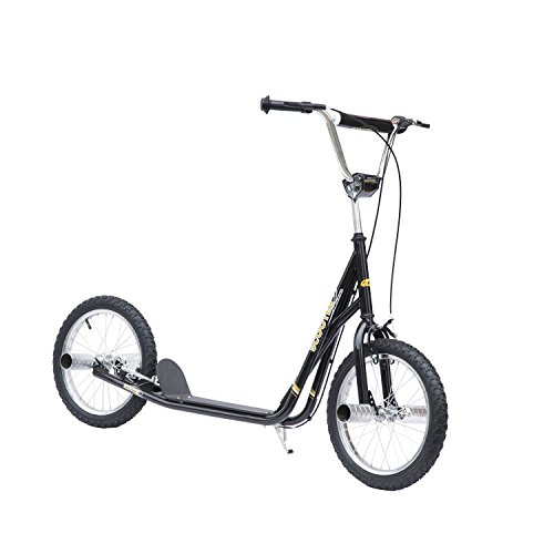 Homcom® Tretroller Scooter 16 Zoll Cityroller Kinder Jugendliche Roller schwarz