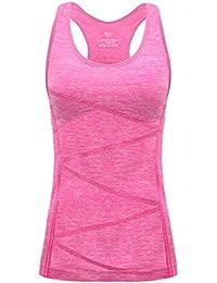 factory price eb123 653b6 Disbest Débardeur et Tops de Sport Gilet Femme T-Shirt sans Manches Yoga  Fitness Elastic