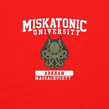 Planet Nerd Miskatonic University - Damen T-Shirt Rot