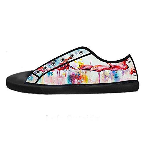 Dalliy Pink Flamingo Men's Canvas shoes Schuhe Lace-up High-top Sneakers Segeltuchschuhe Leinwand-Schuh-Turnschuhe D