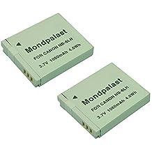 Mondpalast ® Remplacement Batterie x 2 Li-ion type NB-6LH NB6LH 1060mAh infochip pour Canon SX520 HS SX600 HS SX700 HS SX500 IS SX510 HS SX510HS SD1300 S90 S120 SX710 HS