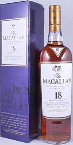 Macallan 1995 18 Years Sherry Oak Single Highland Malt Scotch Whisky Originalabfüllung - 43,0{5a97cca8cf7c00e919b82183fa7c26942e64cea551e7ba5f89d6e0255cc1f4ed} Vol.