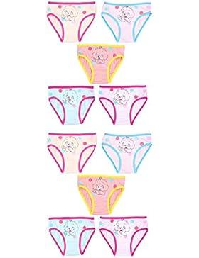 Mädchen Unterwäsche SET Unterhose Slip Blumenmuster Kinder-Unterwäsche Baumwolle im 10er PACK