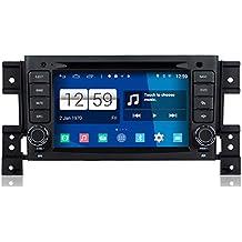 roverone quod Core Android Sistema 7pulgadas Doble Din Autoradio GPS para Suzuki Grand Vitara GV 2005+ con sistema de navegación radio estéreo DVD Bluetooth SD USB espejo Enlace pantalla táctil