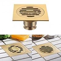 Tanzimarket Brass Solid T-type Floor Filler Anti-odor Bath Floor Drain