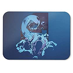 BLAK TEE Deep Black Hole Space Mouse Pad 18 x 22 cm in 3 Colours Blue