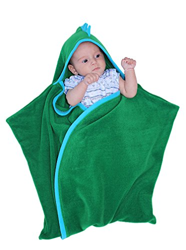 Bébé Sac de couchage, Swaddlesack, Sleepingsack, Dragon, Poussin ou Renne, Naissance de Noël, Baby Shower, Pâques, Cristening Cadeau, Echarpe de vert green dragon 0-6 mois