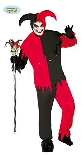 Harlekin Kostüm Halloween Clown Herren Horror Kostüm Halloweenkostüm Joker M-L, Größe:L