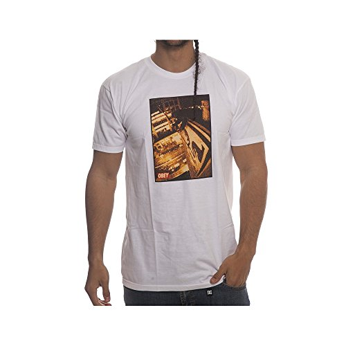 Camiseta Obey: Tokyo Roof WH Weiß