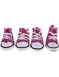 Feidaeu Zapatillas de Deporte para Mascotas Zapatos con Cordones Antideslizantes Lona de Mezclilla Zapatos Deportivos para Gatos Perros Peluche…