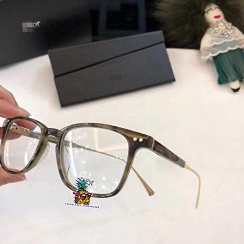 day spring online shop New CD0362 Women's Plastic Brown Half Frame Eyeglass Frames Glasses-Gray
